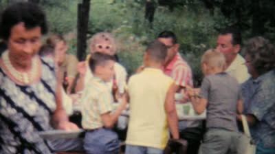 stock-footage-johnstown-new-york-a-large-extended-family-enjoys-a-big-summer-picnic-get-together-reunion