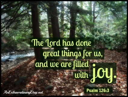 AnExtraordinaryDay.net-Psalm-126-verse-3-The-Lord-has-done-great-things-and-we-are-filled-with-joy.-Woodland-photo
