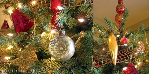 page christmas antique ornaments