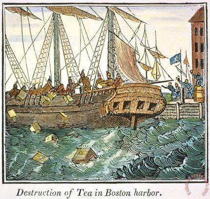 The Boston Tea Party, 1773 Painting; The Boston Tea Party, 1773 Art Print for sale