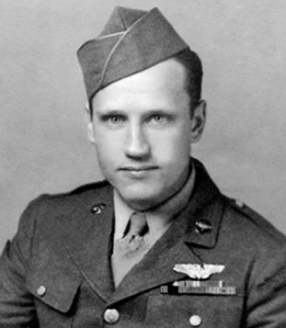 Staff Sgt. Jacob DeShazer, a member of the famed Doolittle Raiders, was the bombardier of Crew No.16, the last of the 16 B-25 Mitchell bombers to launch from the USS Hornet April 18, 1942, on the famous bombing run over Tokyo. Sergeant DeShazer, 95, died March 15. (U.S. Air Force photo)